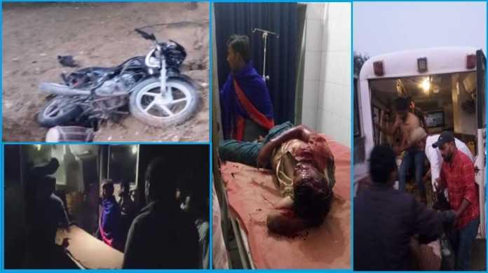 3 injured In bike slipping on Nachna to Mohangarh Road
