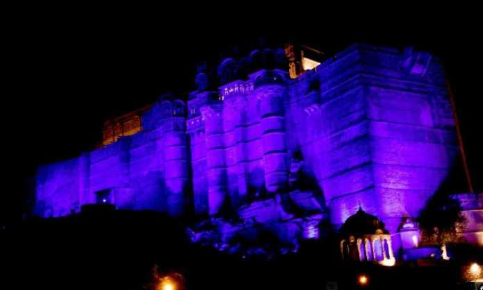 Jodhpur Mehrangarh Fort Blue Light World Diabetes Day