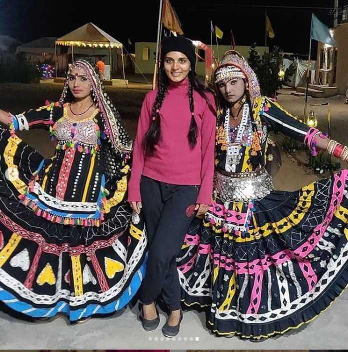 दक्षिण भारतीय Actress सिन्धु लोकनाथ ने किया जैसलमेर का भ्रमण 4
