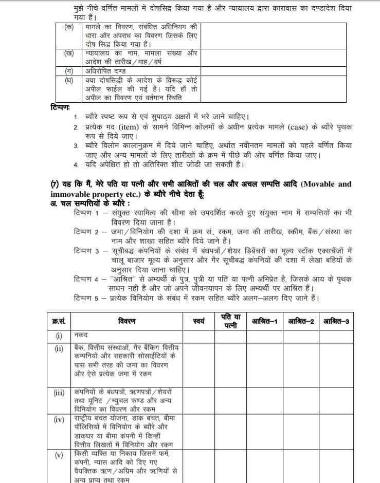 पंचायती राज आम चुनाव-2020 सरपंच पद के नाम निर्देशन पत्र में संतानों की संख्या, अपराध सम्बन्धी घोषणा के साथ ही करनी होगी क्रियाशील स्चच्छ शौचालय की घोषणा 6
