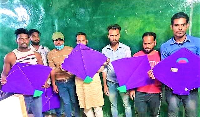 satta on kite flying seven arrested