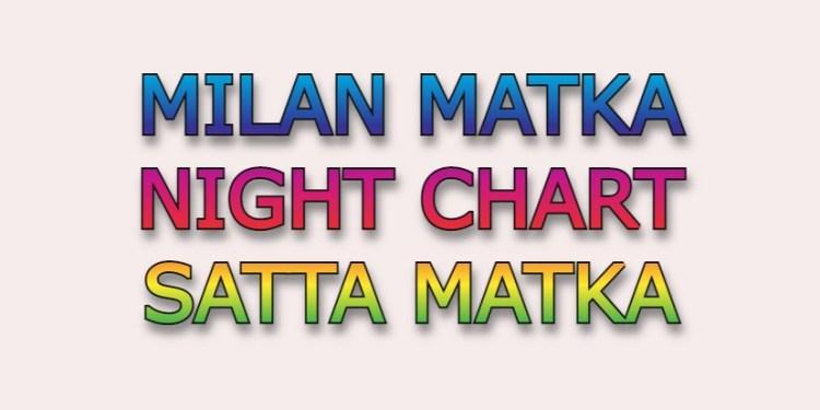 Milan Matka Night Chart Satta Matka