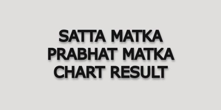 SATTA MATKA PRABHAT MATKA CHART RESULT