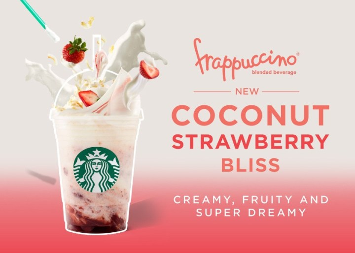 Starbucks Frappuccino Blended beverage credit to Starbucks Coffee Company