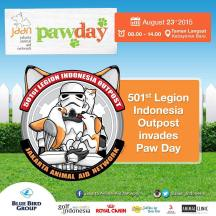 Watch out! 501st Legion will be invading our PawDay! Come meet and take pictures with your favorite Star Wars character at Paw Day 2015. It's 5 days to go! So go get your tickets, click the link in our bio and help spread the news! Walk with us and support animal welfare! #jaan #jakartaanimalaidnetwork #pawday #starwars #501stlegion #501stindonesia #animalwelfare #fundraising #doglovers #dogloversjakarta #dogloversjkt