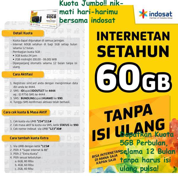 Indosat Internetan 60gb 5gb Bln Selama 12 Bulan Superwifi Belum