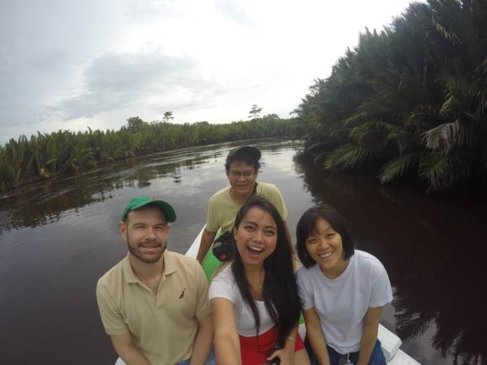 Wefie with Nipa Palm View