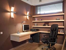 Business office with black chair