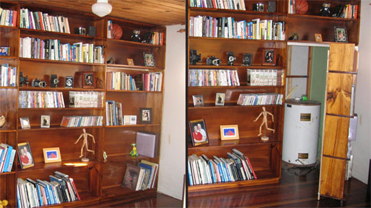 Build A Secret Bookshelf Compartment Baseball Beer