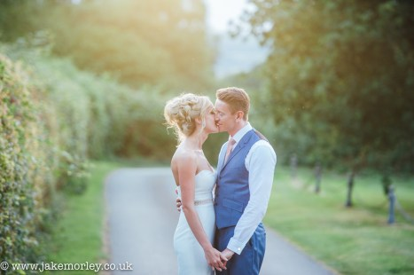 sunset at porthmawr country house wedding