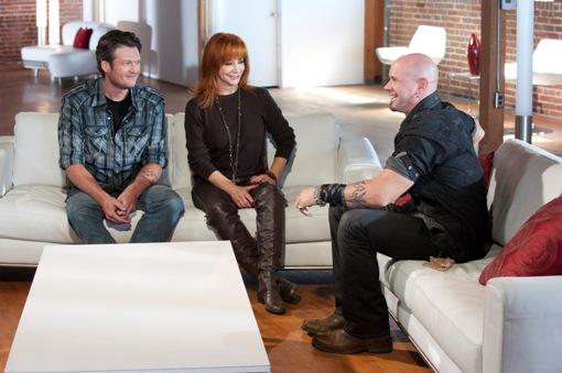 Jared Blake with Blake Shelton and Reba McEntire