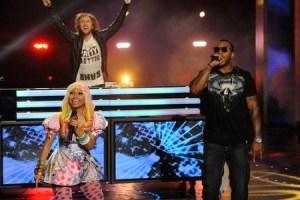 David Guetta, Flo Rida and Nicki Minaj on America's Got Talent