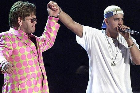 Elton John and Eminem Grammy 2001
