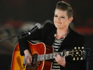 "Natalie Maines' gutsy cover of Eddie Vedder's ""Without You"" should definitely be added into a music lover's library.  (Photo property of Getty Images)"