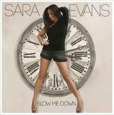 "Sara Evans' ""Slow Me Down"" is a strong country album with impeccable duets. (Album cover property of RCA Nashville)"