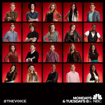 """20 became 12 as """"The Voice: Season Seven"""" revealed America's votes. (Photos property of NBC)"""