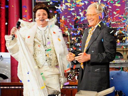 Bill Murray as Liberace and David Letterman