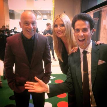 Oz Pearlman with Heidi Klum and Howie Mandel