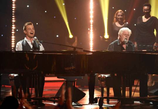 Clark Beckham and Michael McDonald American Idol XIV finale