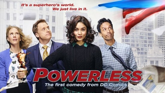 """NBC and DC Entertainment will premiere the """"Powerless"""" pilot at San Diego Comic-Con this afternoon. (Photo property of NBC, DC Entertainment & Warner Bros. Television)"""
