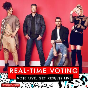 """For the first time in show history, """"The Voice"""" offered fans-real-time voting! (Photo & graphic property of NBC & MGM TV)"""