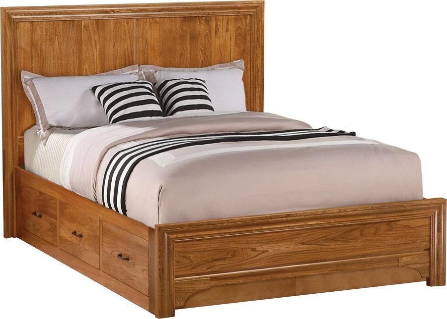 Jakes Amish Furniture 1032 Cologne 6 Drawer Platform Bed