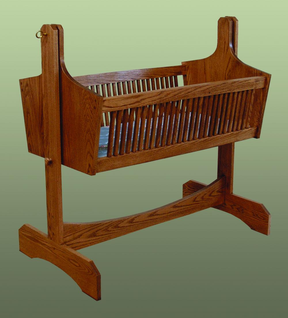 Jakes Amish Furniture Mission Cradle
