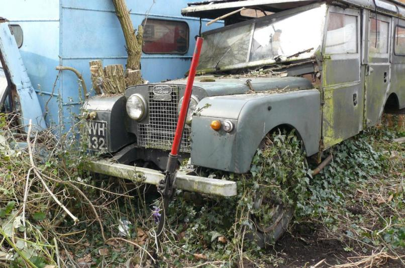 Land Rover Station Wagon Series One 107 Seen Here Abandoned In A Garden Where It Lay