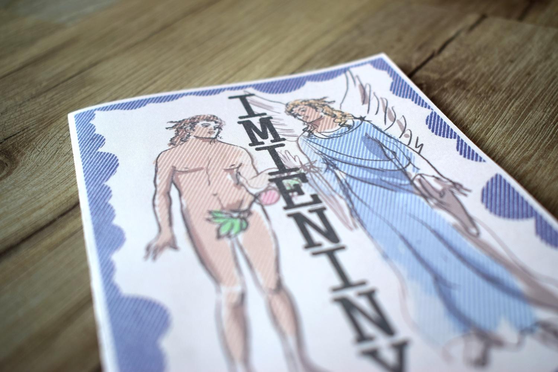 Kartka imieninowa Adam & Gabriela + fajny trik graficzny