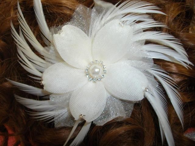 bridal feather hair combs.