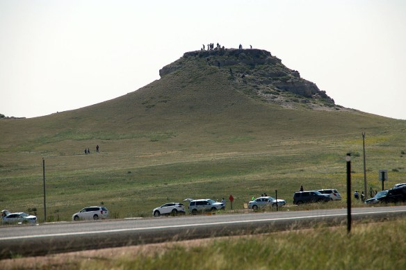 Many people climbed to th etop of this Butte for a more better view.