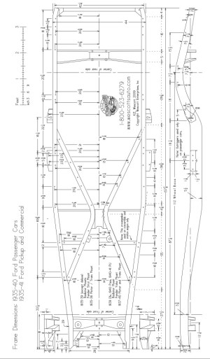 4954 Chevy passenger car chassis diagram | The HAMB