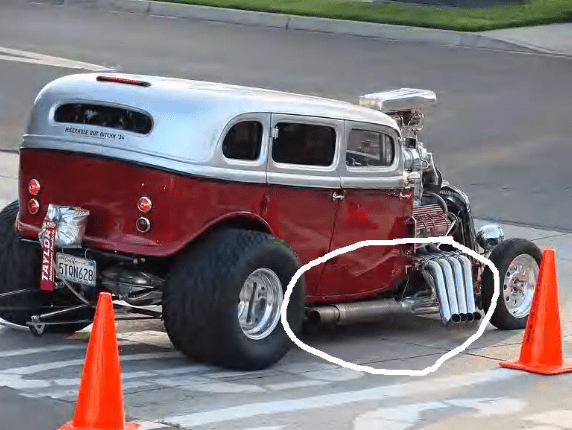 side pipes on a model a coupe