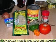 Ackee and Saltfish - Ingredients