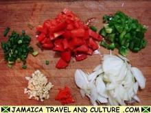 Curry Shrimp - Preparing the vegetables