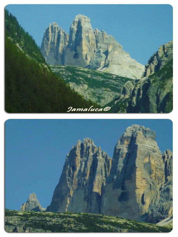Dobbiaco - Punto panoramico delle Tre cime di Lavaredo nella Val di Landro