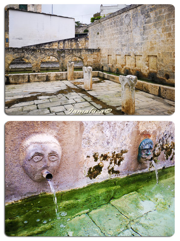 La fontana dei mascheroni a Laterza