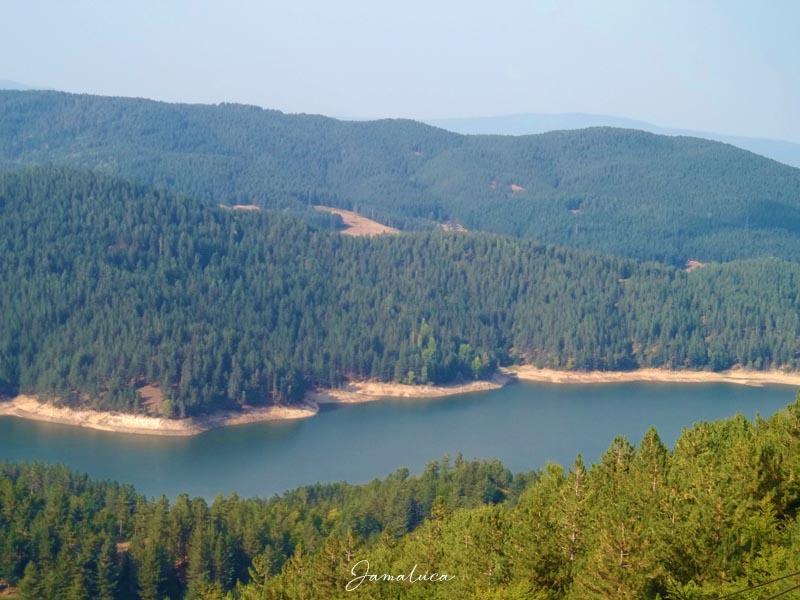 Lago Ampollino dall'alto