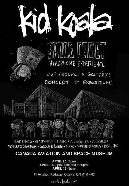 Kid Koala Poster for Space Cadet Headphone Concert