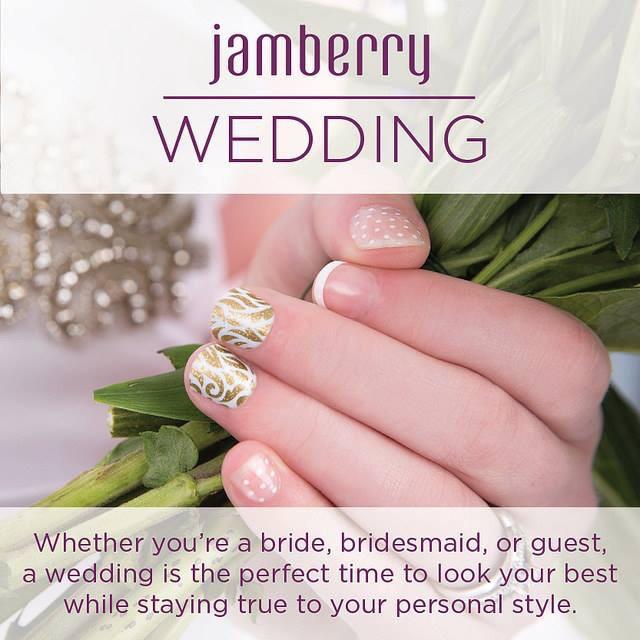 Jamberry Wedding Nails - Jambeautiful
