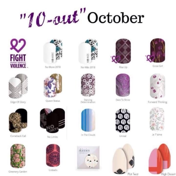October Jamberry retiring wraps - 10 out