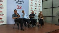 Anggota Tim Kuasa Hukum BPN Prabowo Subianto - Sandiaga Uno, Nicholay Aprilindo di Prabowo - Sandiaga Media Center. (Ist)