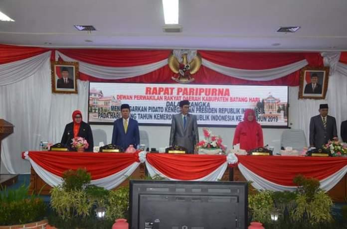 Rapat paripurna DPRD kabupaten batanghari. Foto: Rizki/Jambiseru.com
