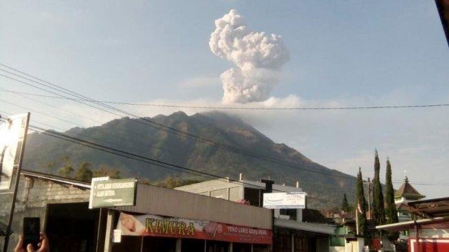 Awan panas letusan Gunung Merapi.(Dok BPPTKG dari Selo Boyolali)