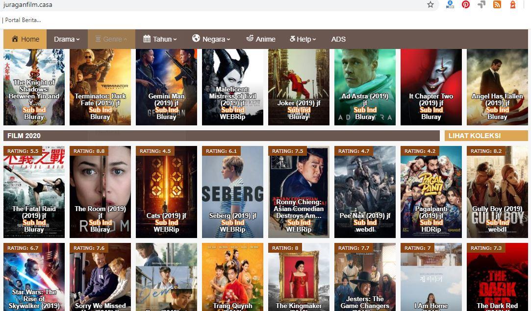 Juraganfilm terbaru, situs nonton download film bioskop online