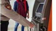 Mesin ATM BNI yang dibobol maling. Foto: Yogi/Jambiseru.com