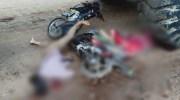 Kedua korban masih tergeletak di TKP. Foto: Rizki/Jambiseru.com