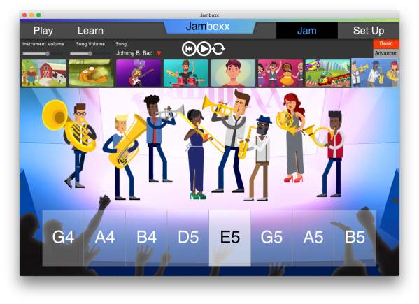 The Brass Band in the Jamboxx JAM mode.