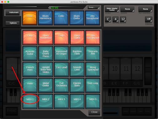 Choose the MIDI instrument
