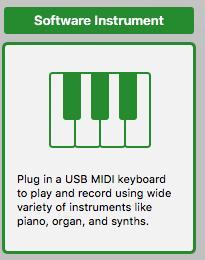 GarageBand software instrument